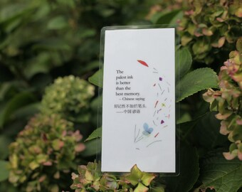 Chinese saying, The palest ink is better than the best memory.  Magnet or Bookmark in Mandarin and English