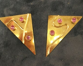 Happy Notes Judaic Art Fine Custom Jewelry, 18 kt gold and Pink Sapphire