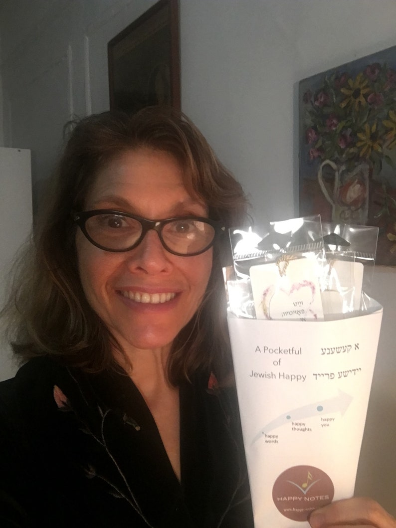 A Bag of Jewish Happy  6 bookmarks in English and Yiddish image 0