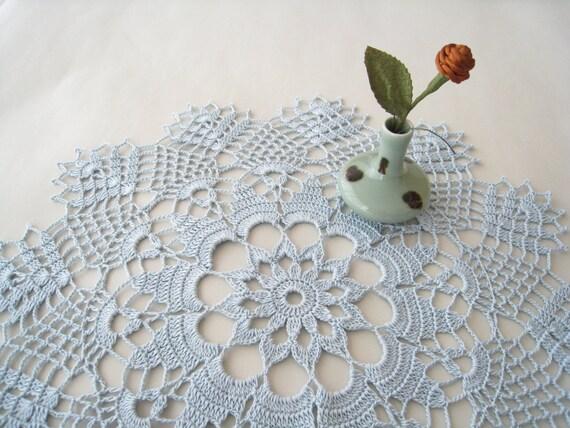 Lace Deckchen Häkeln Deckchen Kornblume Blau Hochzeit Etsy