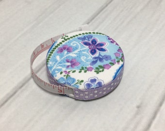 Lavender Blue Dilly Dilly (A) Fabric Covered Retractable Tape Measure