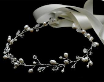 Vintage Inspired Bridal Headband vine