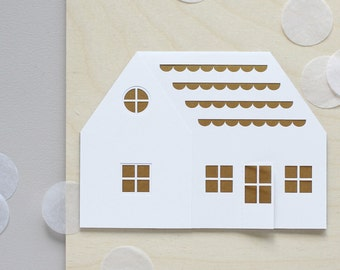 Papercut House Card