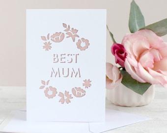Papercut 'Best Mum' Card