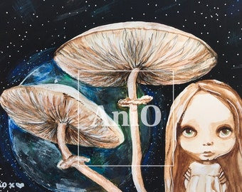 Original Painting by aniO - Mushrooms on Mars
