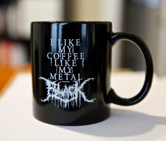 Black Metal Coffee Mug - Black