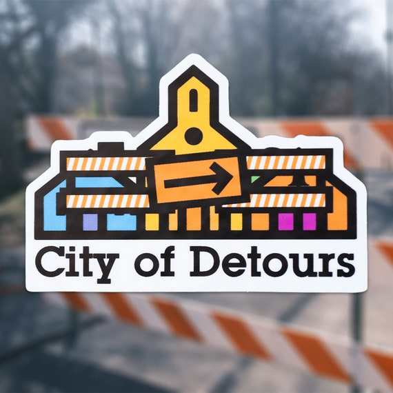 City of Detours Sticker