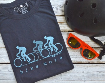 Bicycle T shirts, Bicycle Tshirts for Men, Bicycle Clothing, Bike Shirt, Cycling Shirt, Fitness T-shirt, Ecofriendly clothing, BIKE MORE