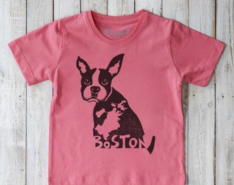 56eaf8cb Boston Terrier Shirt | Kids Boston Terrier Clothing | Organic Kids Clothes  | Boston Terrier Gift | Organic Kids Tshirt | Dog T shirt