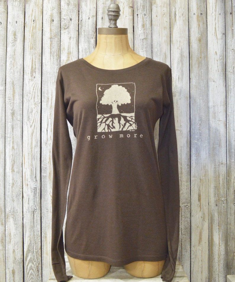 db14525a3 Womens Long Sleeve T Shirt Tree T-shirt Bamboo Long Sleeve | Etsy