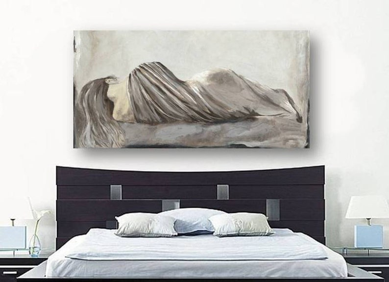 Sensational Oversized Bedroom Wall Art Netural Extra Large Canvas Print Home Wall Art Bedroom Decor Sexy Woman White Taupe Artwork Living Room Art Home Interior And Landscaping Palasignezvosmurscom