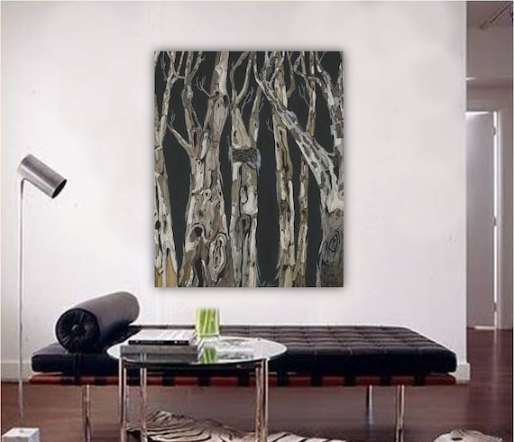 Oversized Masculine home decor, extra large vertical wall art, black and  white canvas art prints, gift for men, bedroom dining room wall art