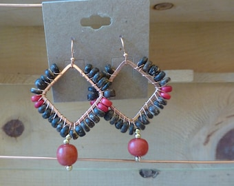 Coconut bead earrings