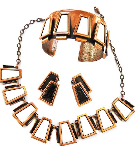 Mid Century Modern Matisse Cuff Bracelet Necklace… - image 1