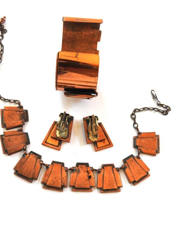 Mid Century Modern Matisse Cuff Bracelet Necklace… - image 2
