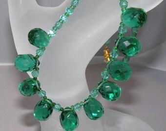 1920s Green Glass Flapper Era