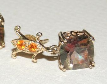 10K and Mystic Topaz earrings