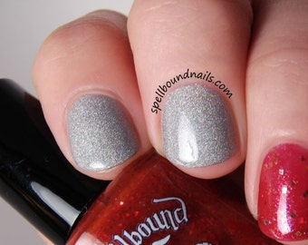 Desperate Desires - custom handcrafted silver holographic nail polish