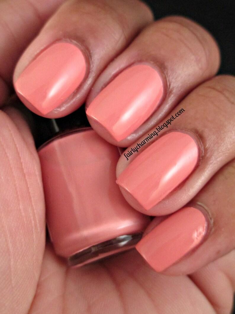 Sunset Boulevard Peach Coral Pink Creme Nail Polish | Etsy