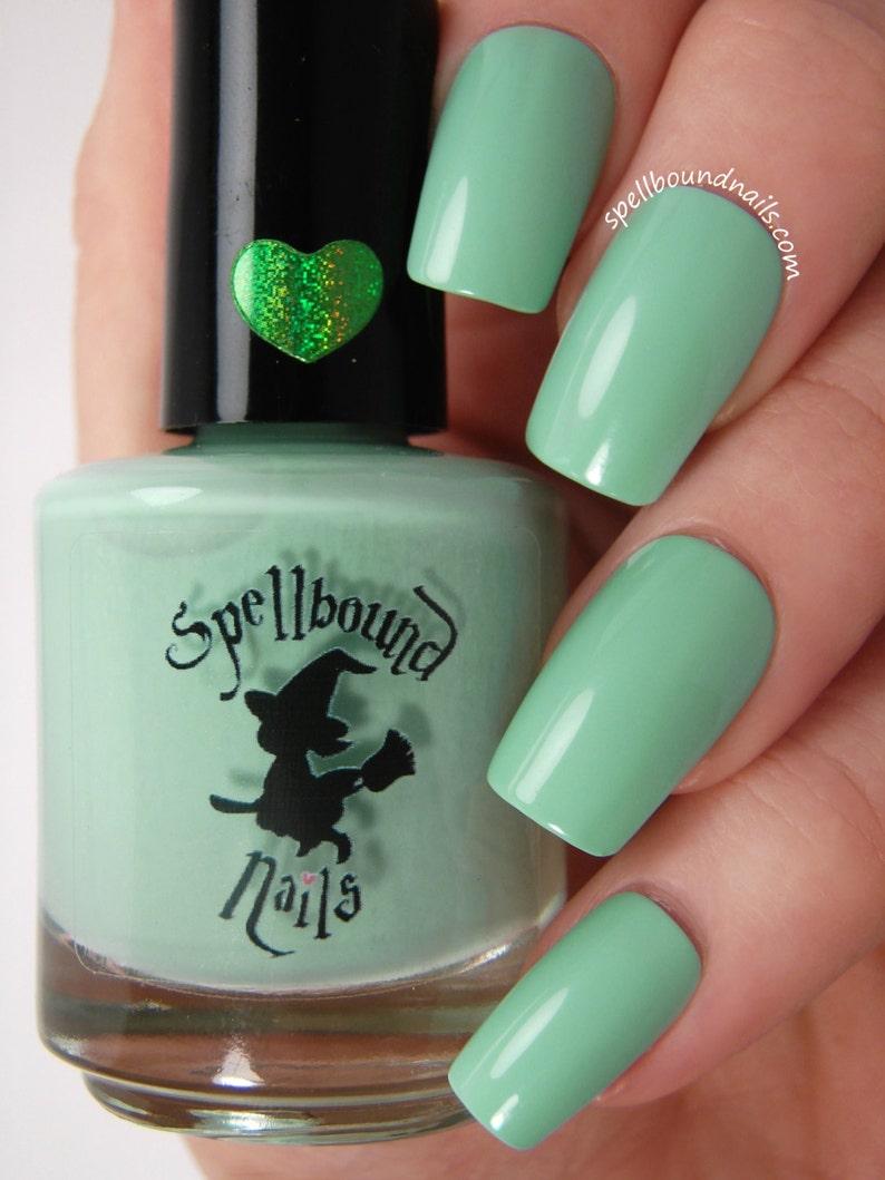 Mint Frappe Green Mint Creme Nail Polish | Etsy