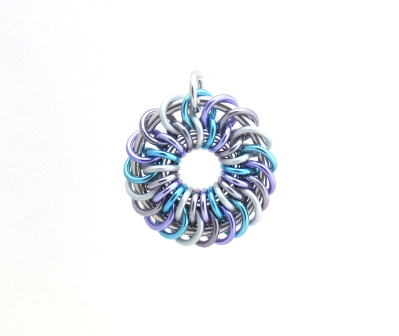 Chain Maille Pendant Pastel Jewelry Jump Ring Jewelry image 0