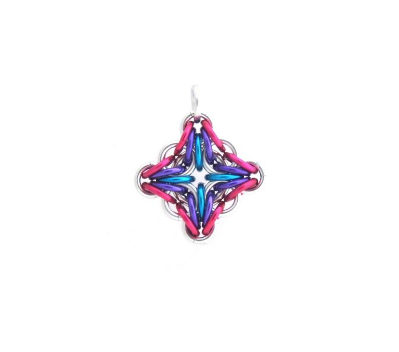 Filigree Pendant Chain Maille Pendant Multicolor Jewelry image 0