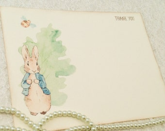 peter rabbit thank you note cards thank you card and note card sets peter rabbit baby shower set of 10