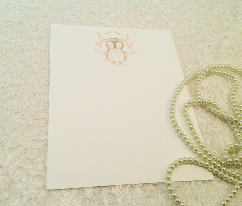 Blank note cards-Owl stationery and cards-All occasion notes-Set of 10