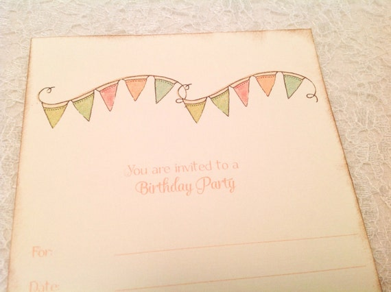Fill In Blank Birthday Party Invitations Banner
