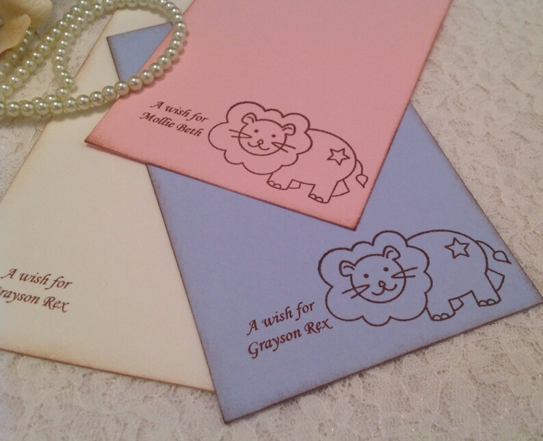 Baby Shower Wish Cards-Lion Cards Stationery Paper Goods for New Baby and First Birthdays