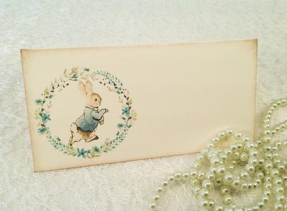 Peter Rabbit tarjetas de lugar para Niños Cumpleaños Fiesta Baby Shower