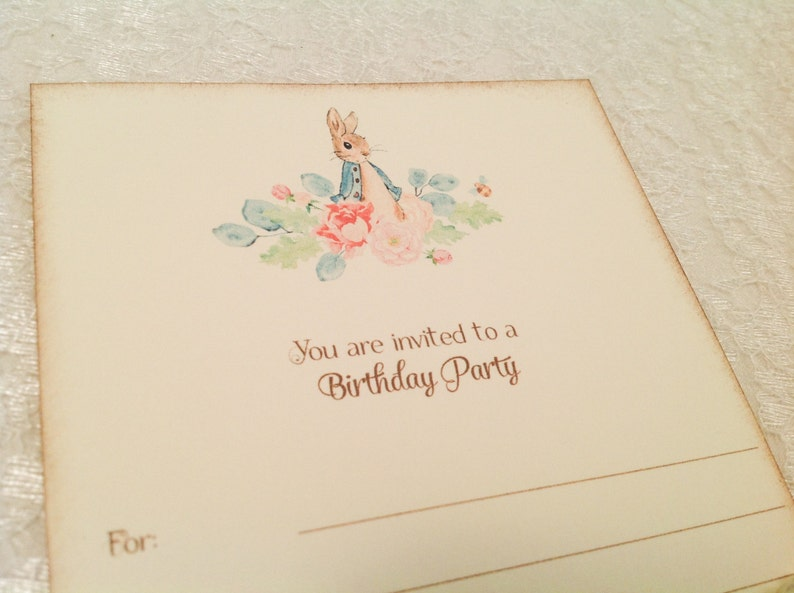 Peter Rabbit Birthday Party Invitations First Birthday Etsy