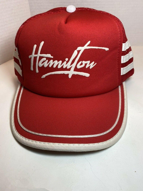 Vintage 3 Stripe Red And White Mesh Snapback Truck
