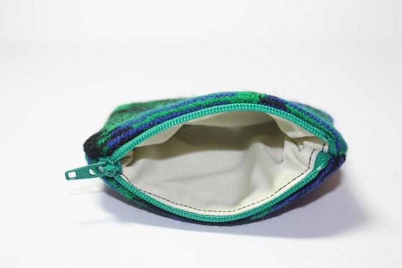 greenblueblack Mackay Tartan change purse coin purse HARRIS TWEED purse