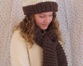 b4feaad5e2838 Hand Knit Hat and Scarf