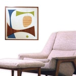 Mid Century Modern Witco Abstract Wall Art Sculpture Painting Atomic Retro Eames Era Mad Men - ALLISON (#3)