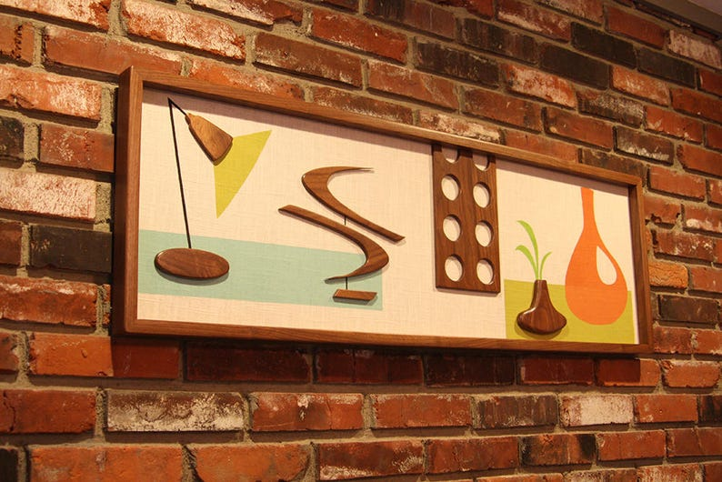 Mid Century Modern Wall Art Witco Inspired Madmen Abstract image 0