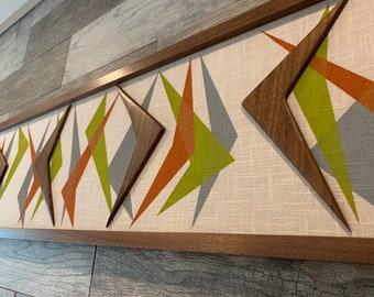 Mid Century Modern Wood Witco Abstract Wall Art Sculpture Painting Tiki Retro Eames Era Boomerang IV