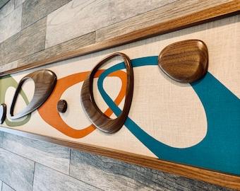Mid Century Modern Wood Witco Style Abstract Wall Art Sculpture Painting Tiki Retro Eames Era The Jonah