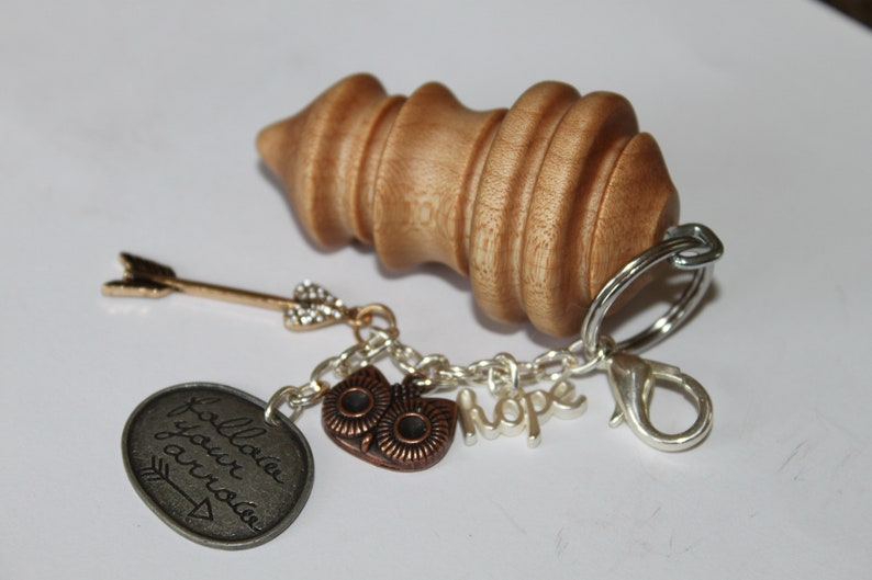 Curly Maple Key Chain