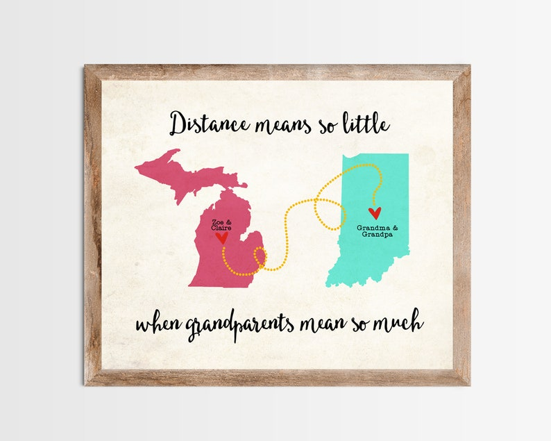 Distance Means So Little When Grandparents Mean So Much Long image 0