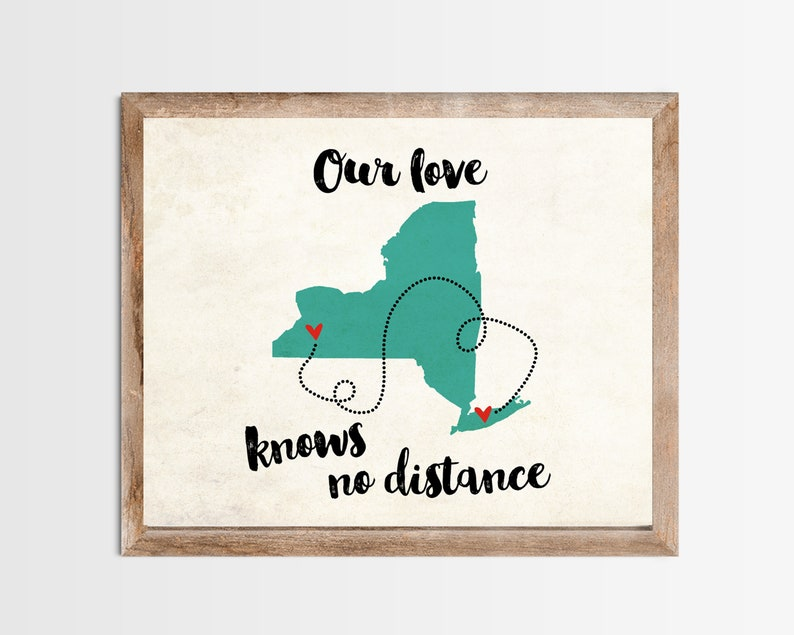 Two Cities One State Love Knows No Distance Long Distance Map image 0