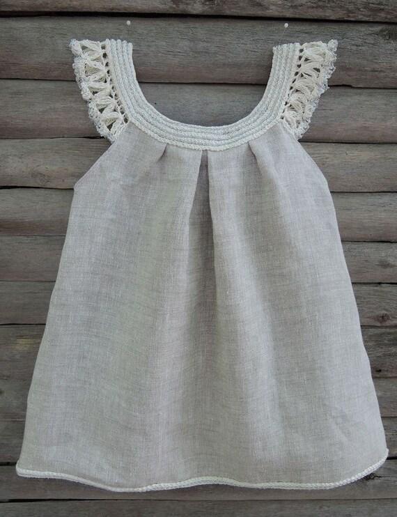 Baby Kleid häkeln handgemachte Bio-Kleid Baby Mädchen | Etsy