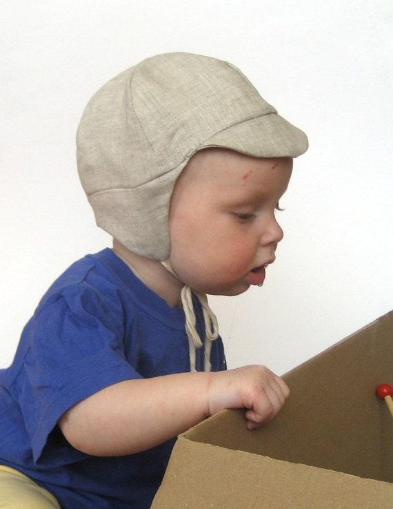 1c94e44d7435c2 Organic baby boy cap babyboy hat oatmel Summer or spring | Etsy
