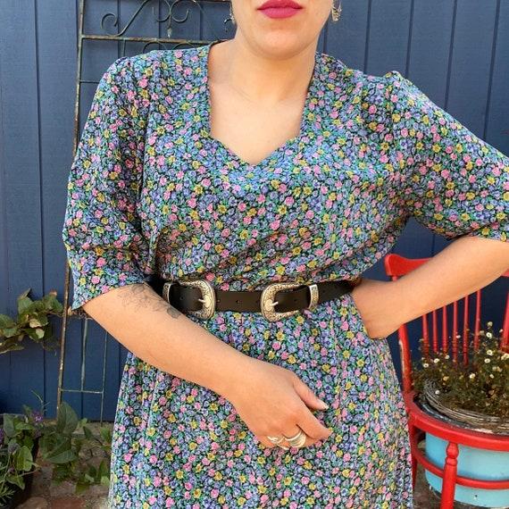 Vintage handmade dress plus size curvy 1980s 1990s