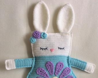 Crochet Ragdoll Bunny Rabbit Handmade Animal Wool Soft Toy Gift