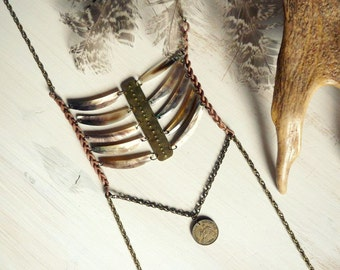 Body chains harness Aweha - bohemian tribal gyspy pagan breastplate style
