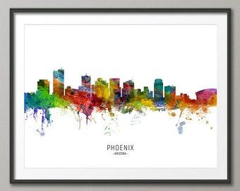 PHOENIX ARIZONA SKYLINE GLOSSY POSTER PICTURE PHOTO BANNER PRINT city view 5941