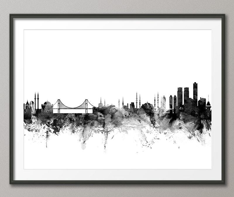 Skyline von Istanbul Istanbul Türkei Stadtbild Kunstdruck | Etsy