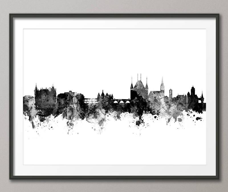 Skyline von Thun Thun Schweiz Stadtbild Kunstdruck 2913 | Etsy